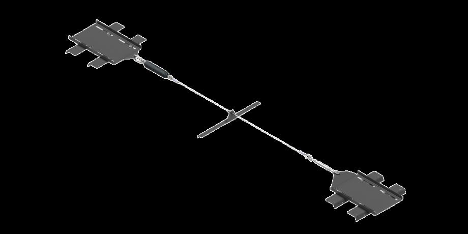 Elemento indeformabile in acciaio inox per linea vita su lamiera